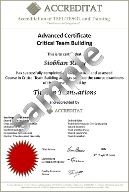 Accredited Training Certificates  Certificate Samples